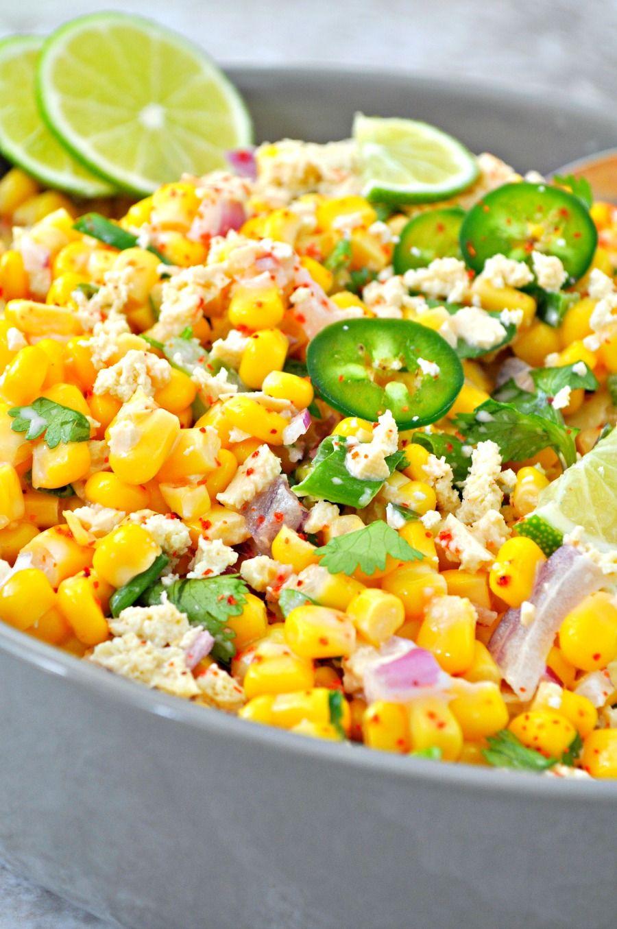 Vegan Mexican Street Corn Salad #mexicanstreetcorn