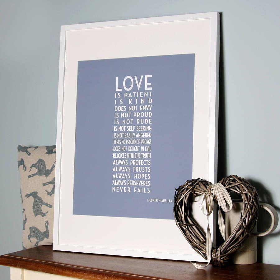 Art Deco 'Love Is Patient' Canvas Print