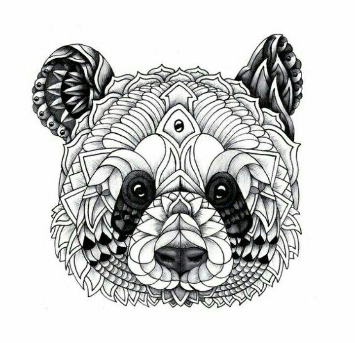 Panda Mandala Tangle Your Head Off Pinterest Panda Panda Art