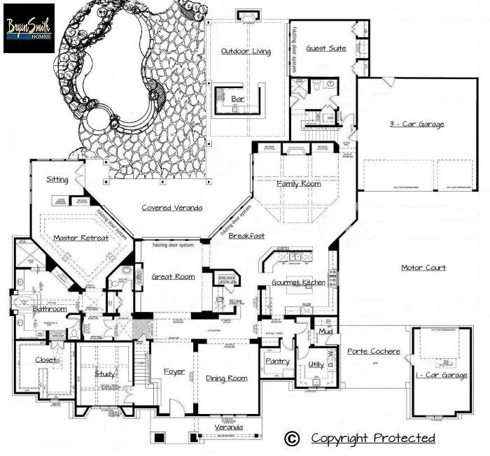 Plan 7500 Italian Villa Country House Floor Plan Country House Plans House Plans