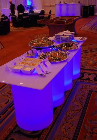 Glow Tables glow tables used as a buffet table!   glow parties   pinterest