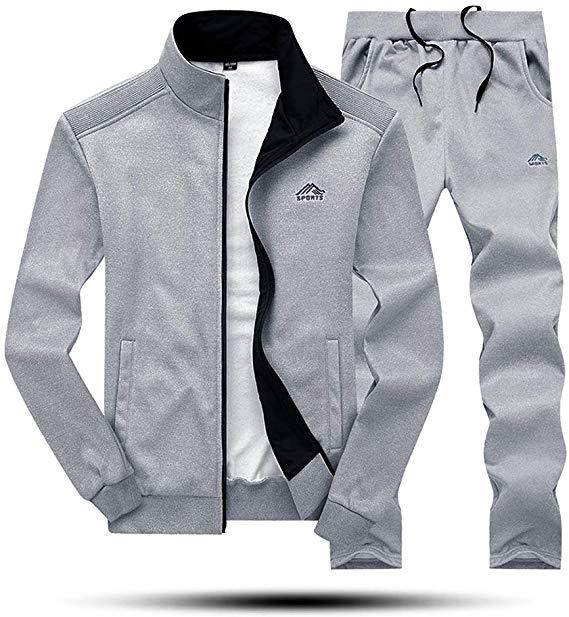 Amazon.com: MAGNIVIT Men's Active Fleece Tracksuit Sportswear Long Sleeves  Outfits Grey: Sports & Outdoors | Track suit men, Mens sweatshirts,  Tracksuit