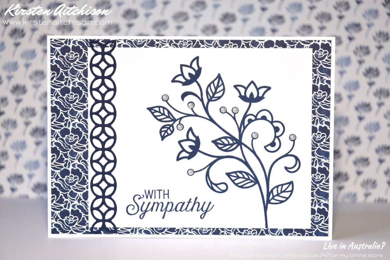 Kirsten Aitchison | Crazy Crafters Blog Hop CASEing Lea Denton | Click to find out more | #kirstenaitchison #leadenton #crazycrafters #stampinup #flourishingphrases #flourish #floralboutique #sympathy #handmade
