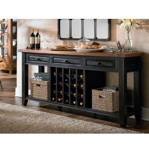 Tuscan Wine Console Black