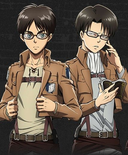 Slap glasses on any hot character and their appeal meter rises. SnK