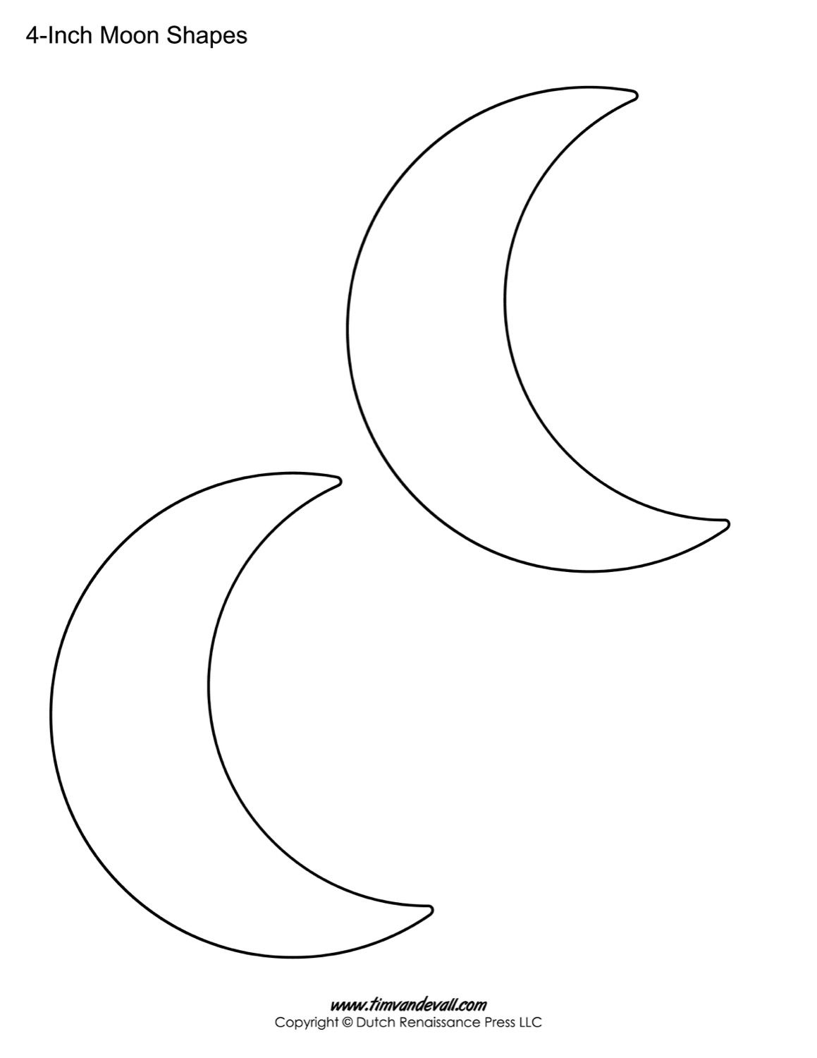 Moon Printable Sheet Moon Coloring Pages Moon Crafts Cresent Moon Drawing