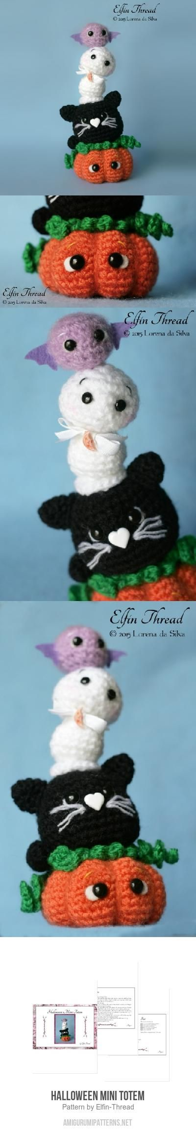 Halloween Mini Totem Amigurumi Pattern | Crochet inspiration ...