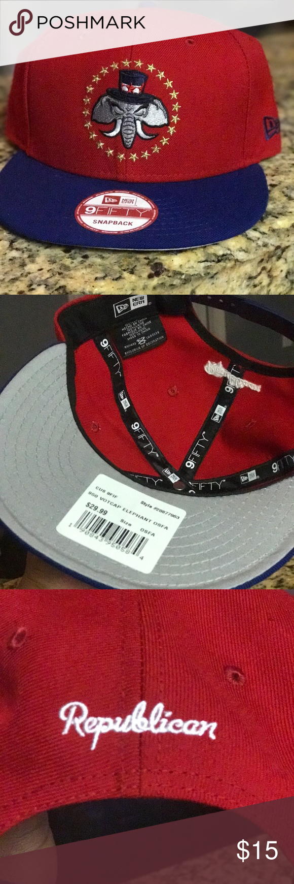 a9b7d62612b RARE NEW ERA REPUBLICAN (VOTE-CAP) SNAPBACK BRAND NEW(NEVER WORN) NEW ERA  REPUBLICAN PARTY SNAPBACK.M L FIT New Era Accessories Hats