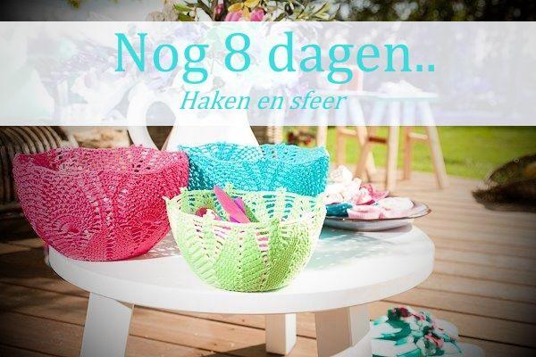Over 8 dagen komt ons boek 'Haken en sfeer' uit! Kom jij dit vieren met ons op 25 april? http://www.wolcafe.nl/