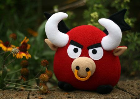 DIY Fluffies Ronky the Flying Bull - Downloadable Pattern ...