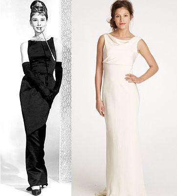 Classic audrey hepburn style wedding dress