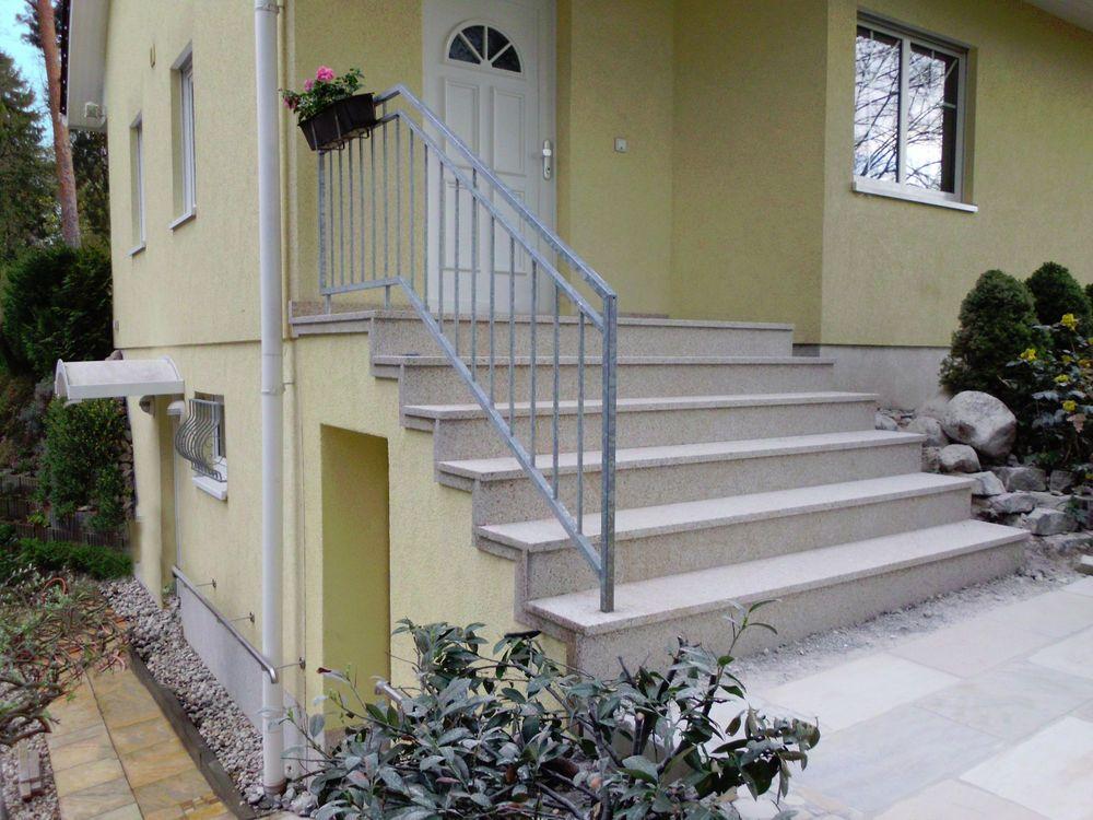Treppe Aussen Haus Eingang Podest Naturstein Granit Beton Stufe Tritt Beige Ebay Treppe Aussen Natursteine Aussen Hauser
