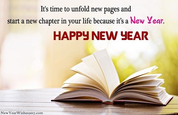it s time to unfold new pages and start a new chapter in your life