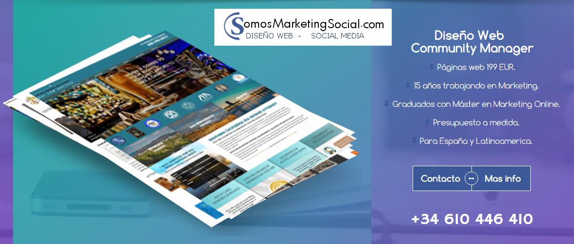 Páginas Web desde 199 € y Community Manager desde 50 € SomosMarketingSocial.com