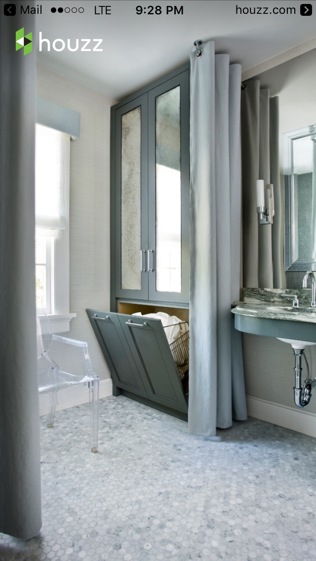 ... feature on the linen closet! not the colors Druid Hills Master Bath  Renovation - traditional - bathroom - atlanta - Mark WIlliams Design  Associates
