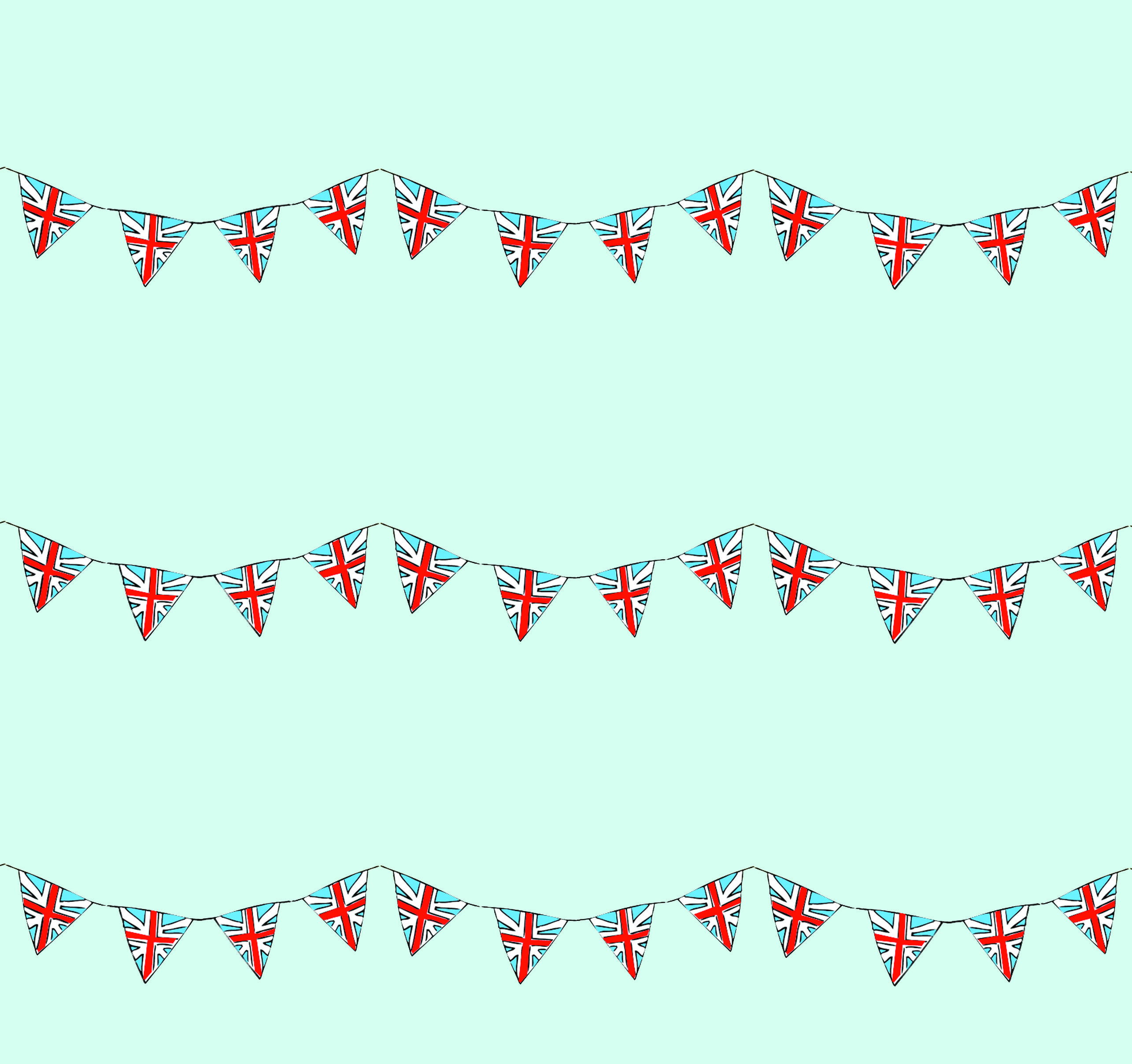 Union jack bunting wrapping paper prints patterns pinterest
