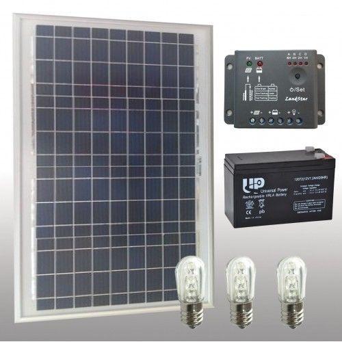 Kit Pannello Solare Led : Kit votivo con pannello solare w led batterie