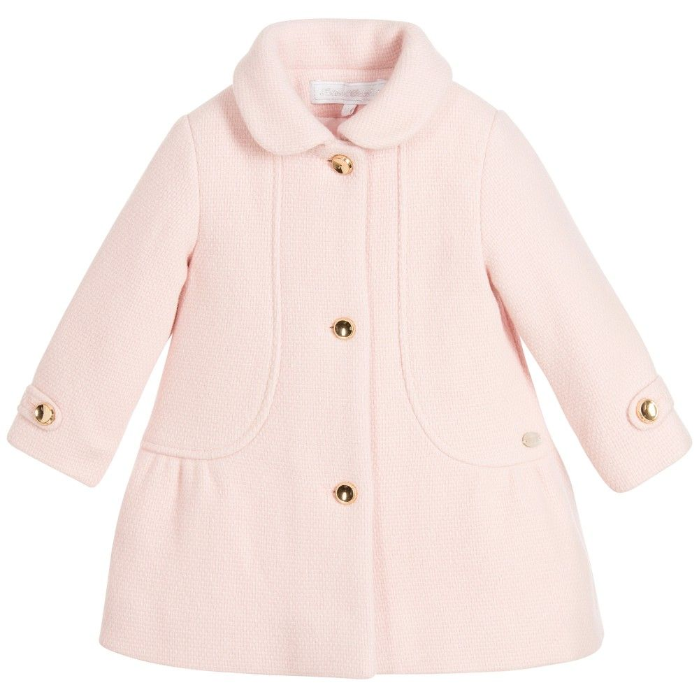 Baby Girls Pale Pink Wool Coat | Coats, Wool and Pink wool coat