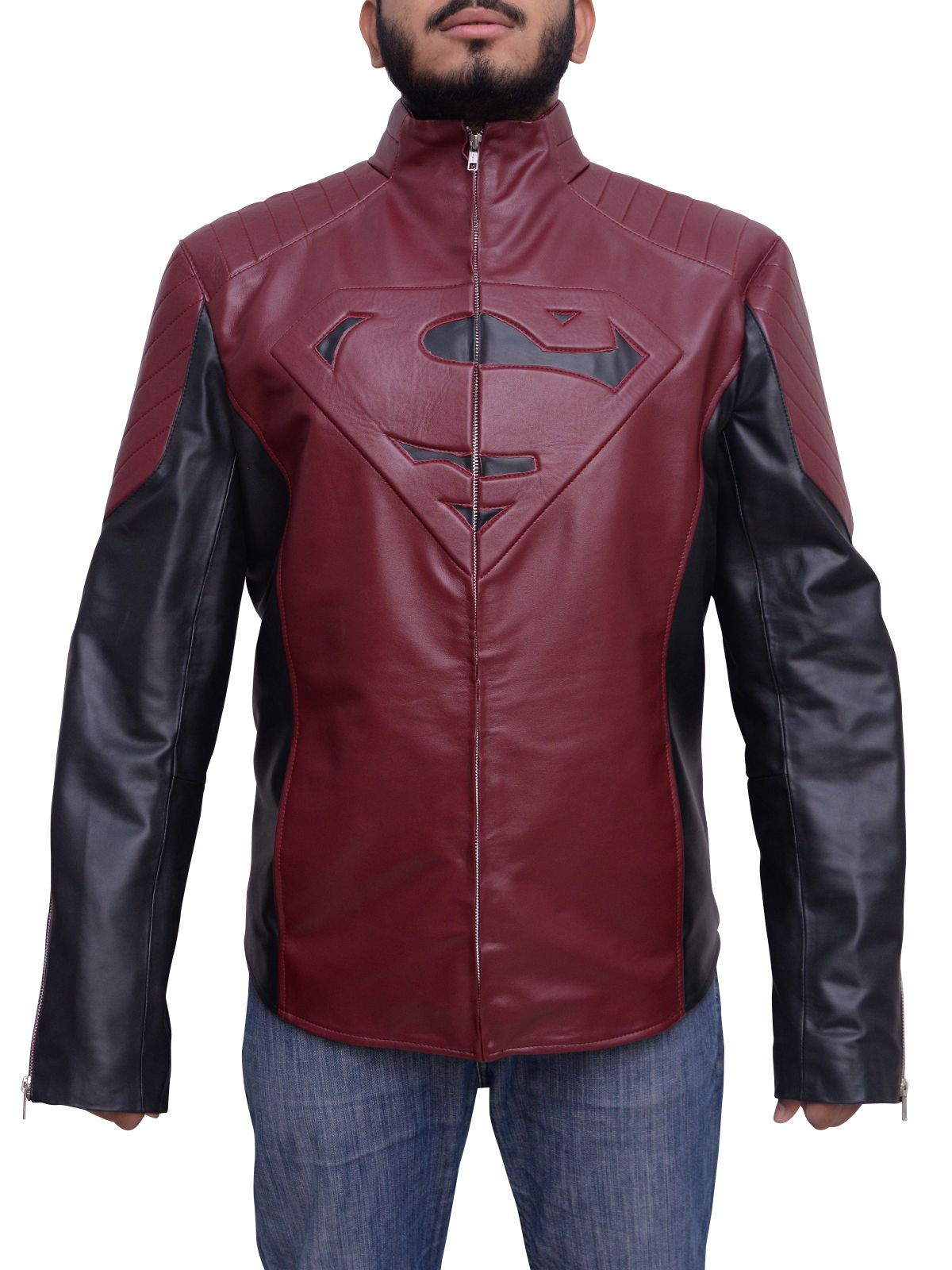 Majestic Superman Man Of Steel Smallville Black & Maroon