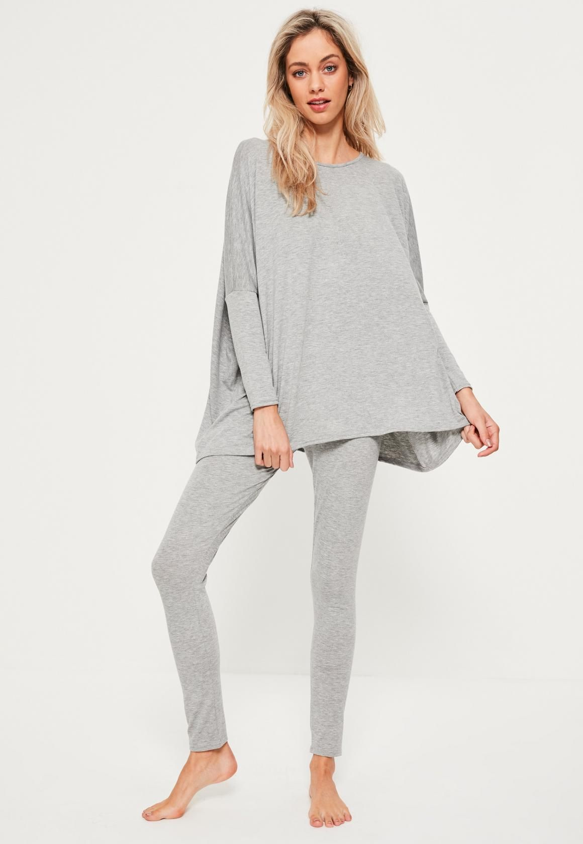 f9bcc104 Missguided - Grey Jersey Oversized Loungewear Set | Loungewear