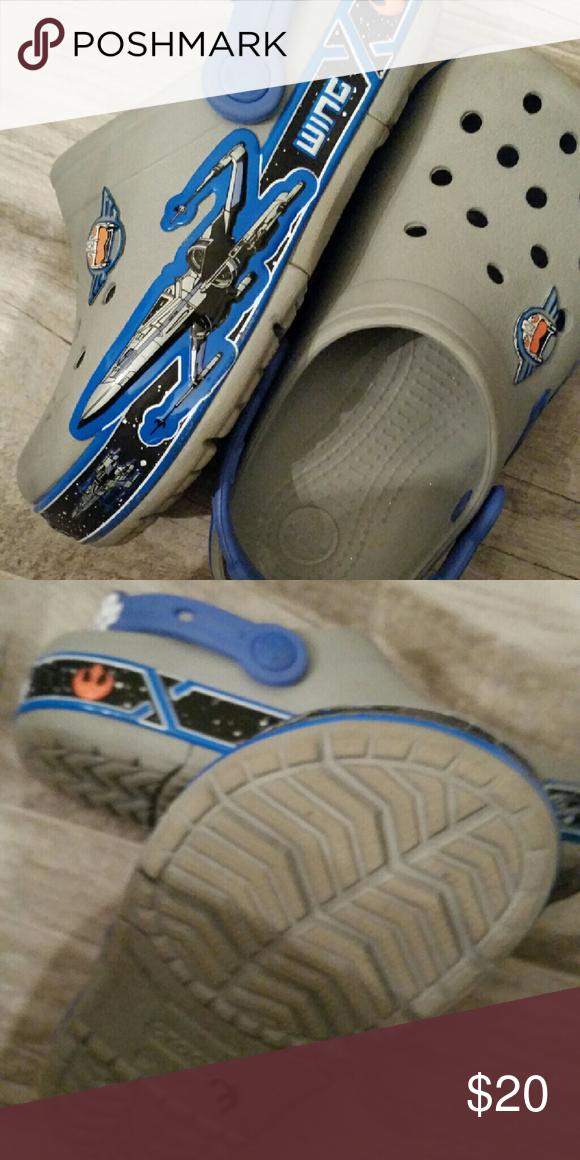 Star Wars crocs Light-up crocs.  Size 13.  Excellent condition.  No wear. CROCS Shoes Sandals & Flip Flops