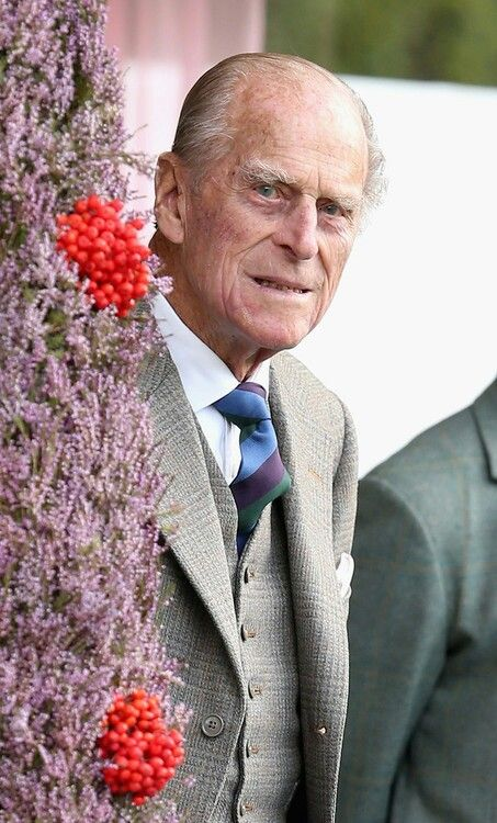 Prince Phillip looking well at the highland games