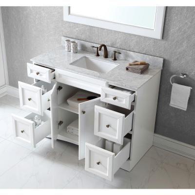 Virtu Usa Talisa 48 In Vanity In Antique White With Marble Vanity