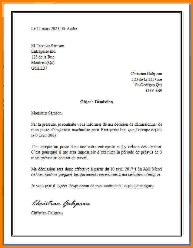 exemple de lettre officielle