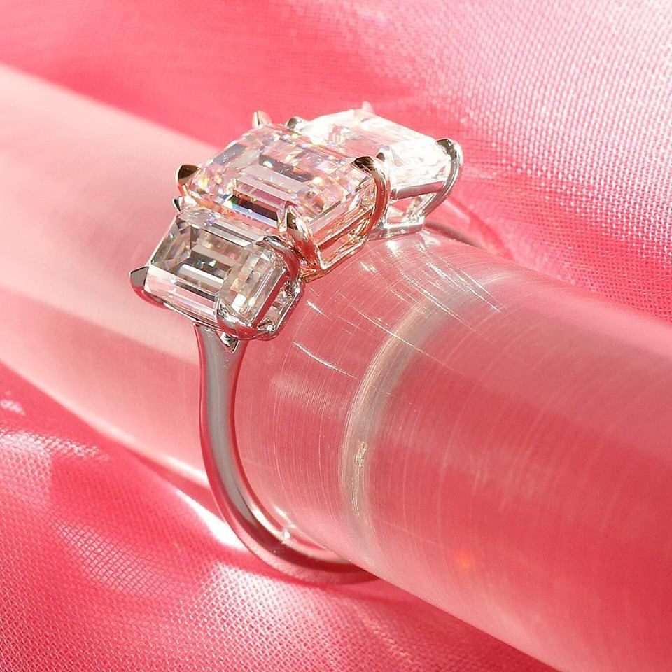 Barely pink moissanite is back, just in time for Valentine\'s Day ...