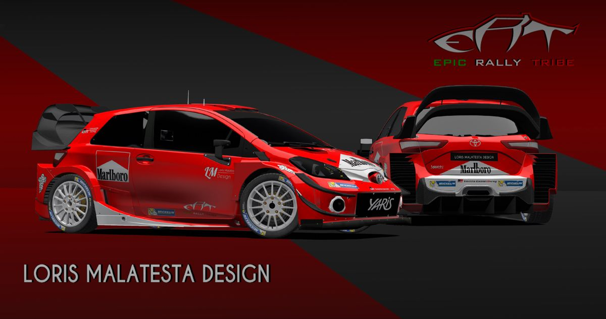 Toyota Yaris WRC Plus Marlboro Racing #toyota #racing #racingcar #rally #cars #cardesign #michelin #motorsport