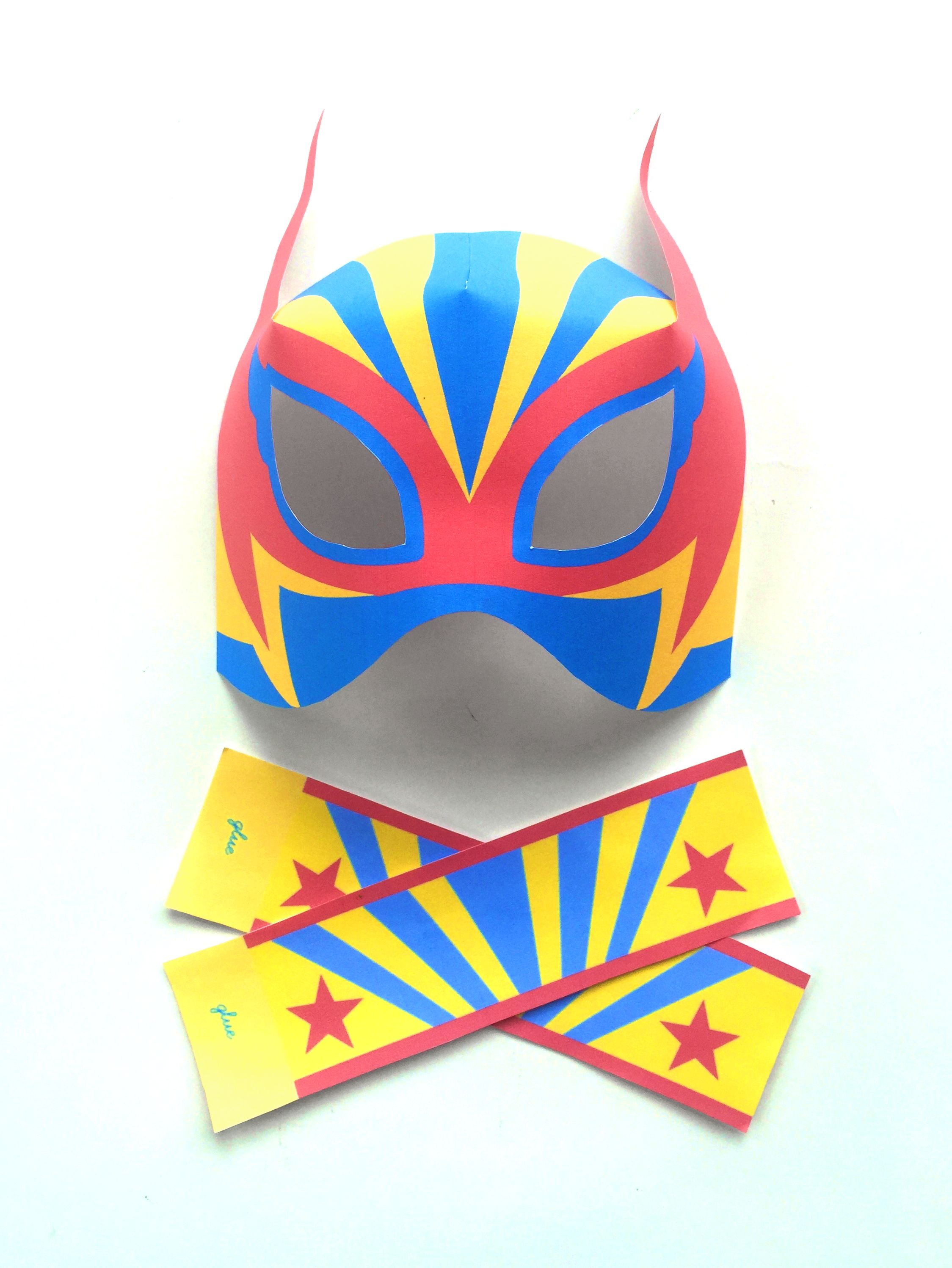 lucha libre printable paper mask and cuff templates 12 luchador