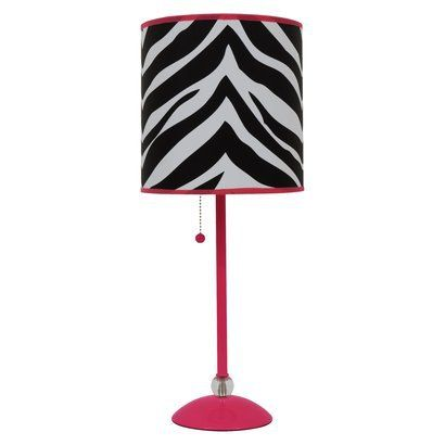Tween S Room Zebra Print Shade Table Lamp When Our Kids