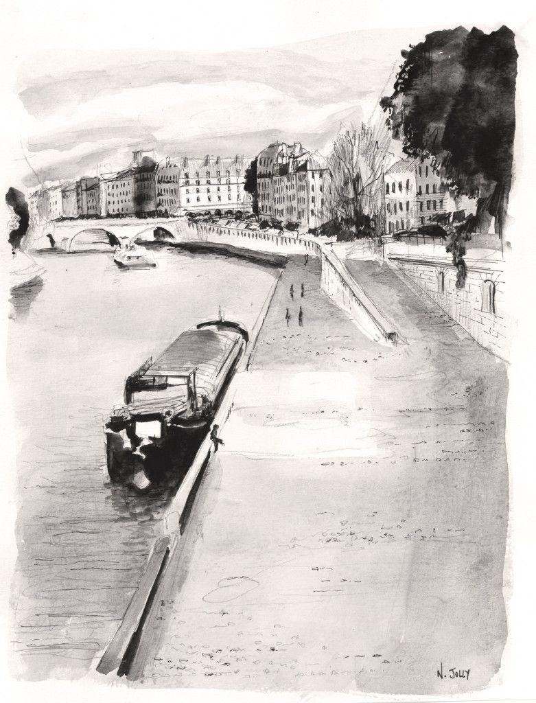 ^La Seine – Paris  By Nicolas Jolly.