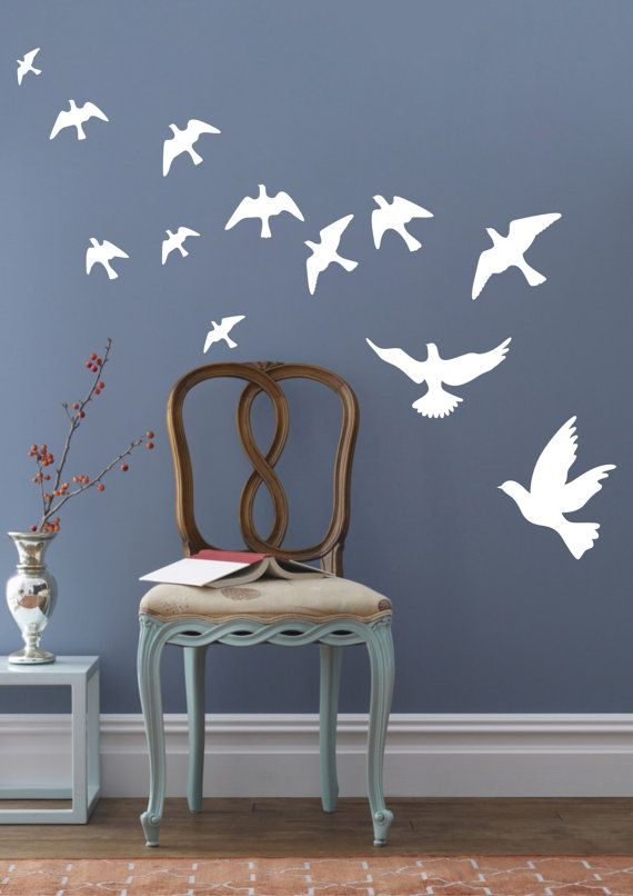 Peace Pigeons Birds Wall Decals Wall Stickers Vinyl Wall Decor ...