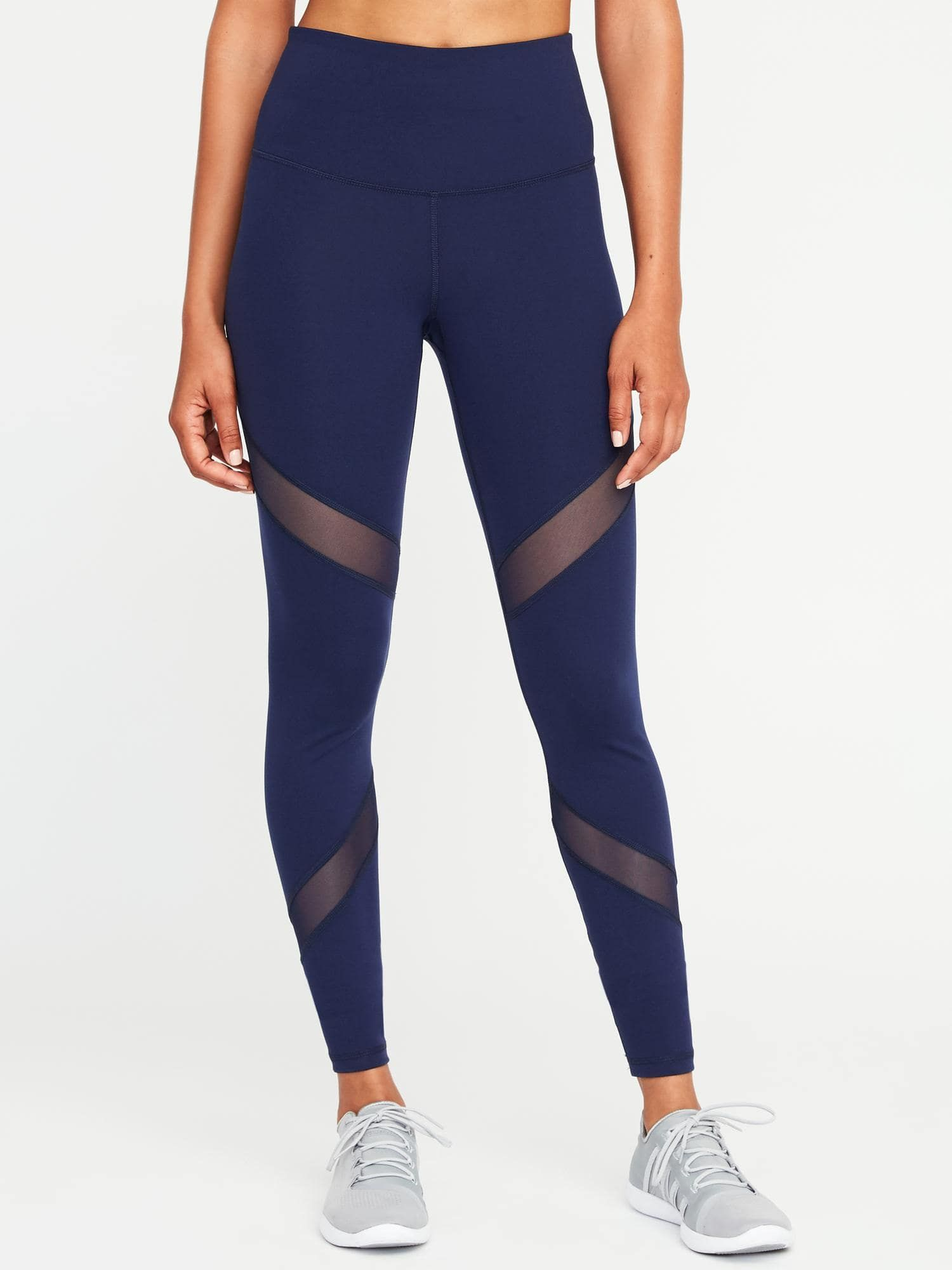 adf927e71d3f60 High-Rise Mesh-Panel Elevate Compression Leggings for Women in 2019 ...