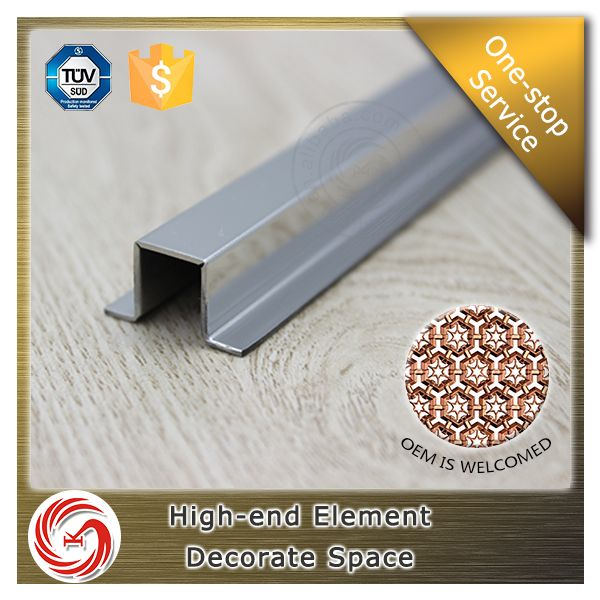 U Shape Edge Protection Stainless Steel Ceramic Tile Trim Metal Tile - Ceramic tile trim shapes