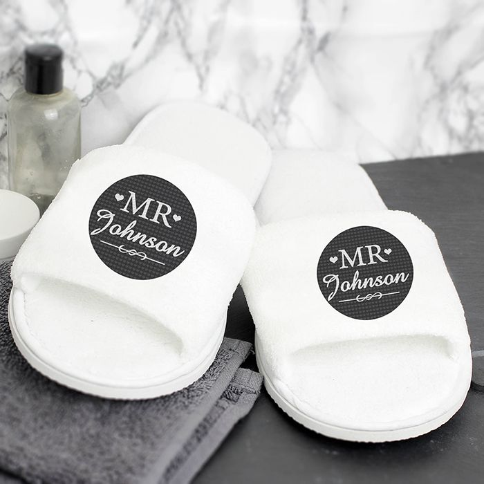Personalised Mr Velour Slippers  http://justtherightgift.co.uk/personalised-mr-velour-slippers
