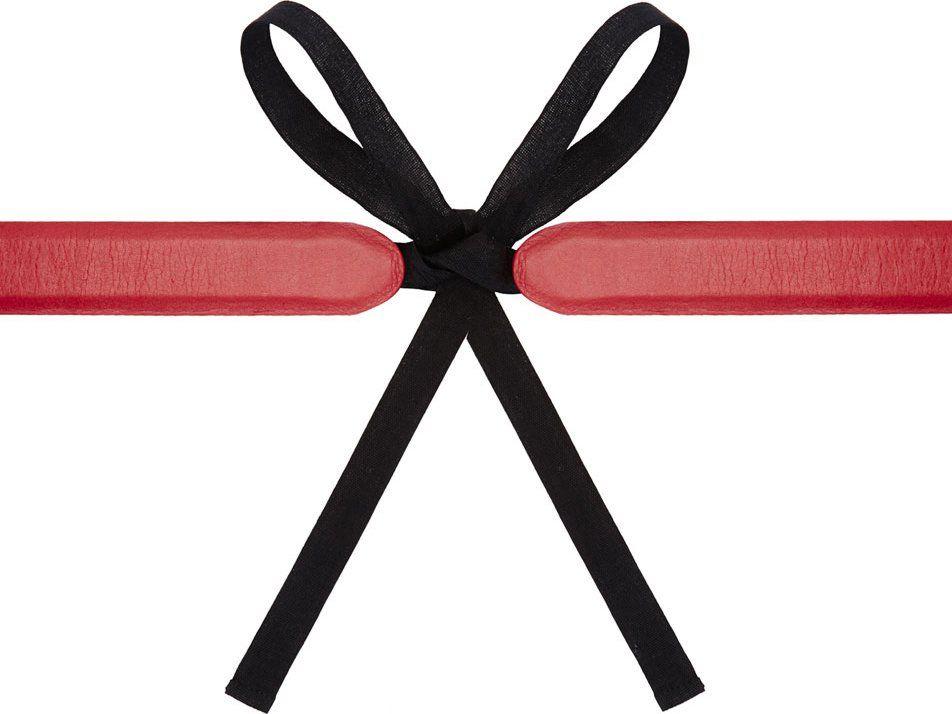 Maison Martin Margiela Burgundy Leather Tie Belt