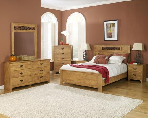 Dakota Furniture™ King Knotty Pine Bedroom Suite at Menards ...