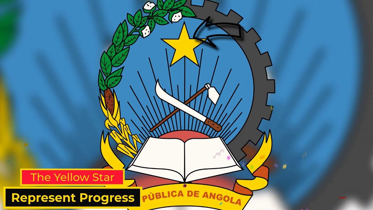 10 Importance Of Angolan National Flag Meaning Of The Flag Of Angola An In 2020 National Flag Coat Of Arms Angolan