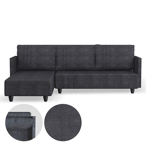 كنب زاوية جهه اليسار لون رمادي فاخر مصنوع من نسيج الكتان الأصلي 100 سهل التنظيف كنب كنبات Couch Couchset So Coffee Table Home Decor Storage Bench