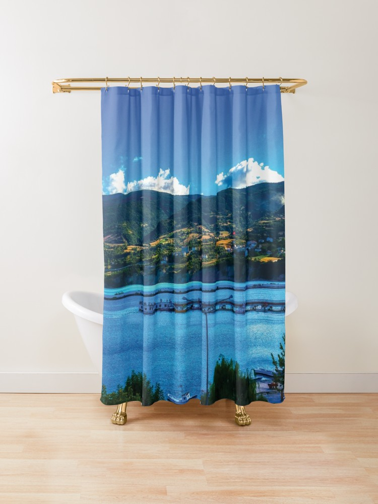 Amazing Seaside Town Clouds Shower Curtain By Bennemm Cool