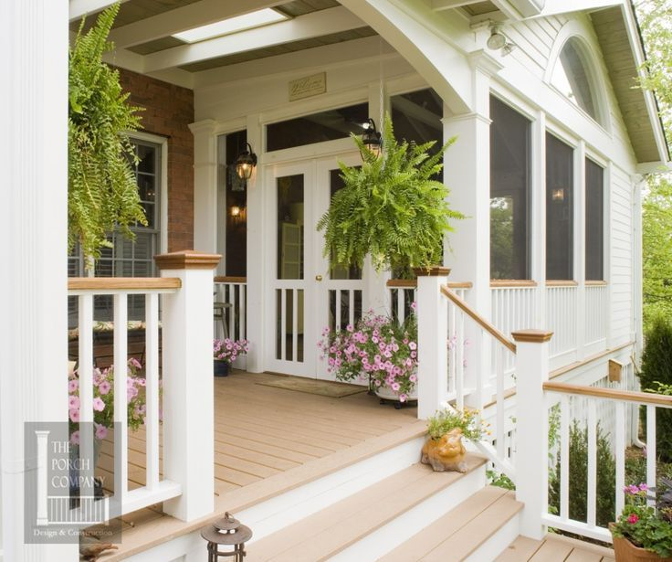 Southern living screened porch ideas found on porchco for Side porch designs