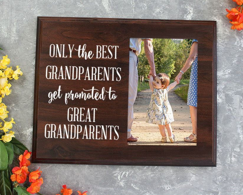 Only the best grandparents get promoted gift for grandparents only the best grandparents get promoted gift for grandparents ultrasound picture frame gift for great grandpa negle Image collections