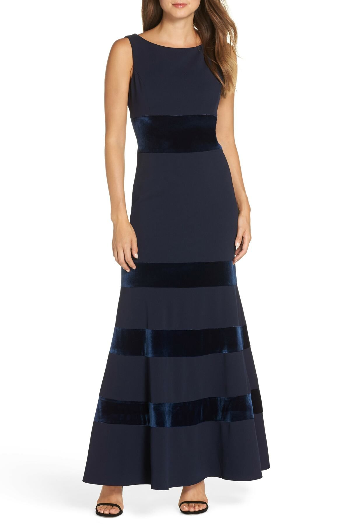 857343ae7b9 Vince Camuto - Velvet   Scuba Crepe Mermaid Gown is now 60% off. Free