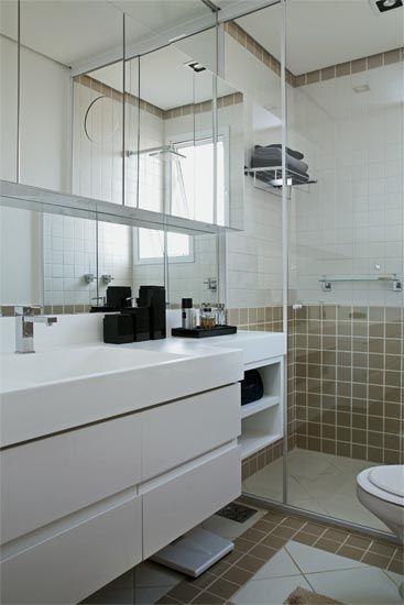 Banheiros 10 modelos modernos de diversos tamanhos  Casa  banheiro  Pinte # Lavatorio Banheiro Moderno