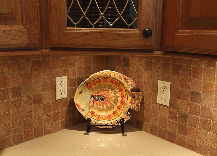 backsplash ideas for oak cabinets Tile Backsplash Remodeling