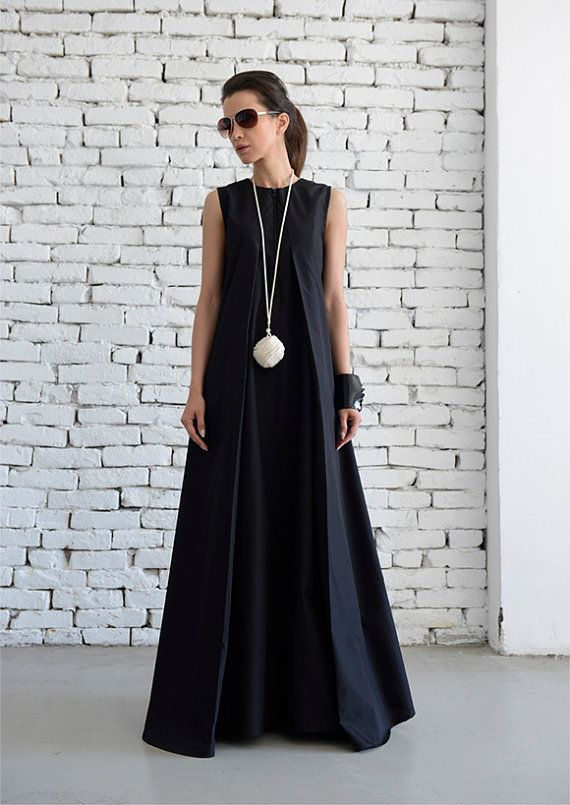 Black Maxi Dress/Loose Long Dress/Plus Size Kaftan/Long ...