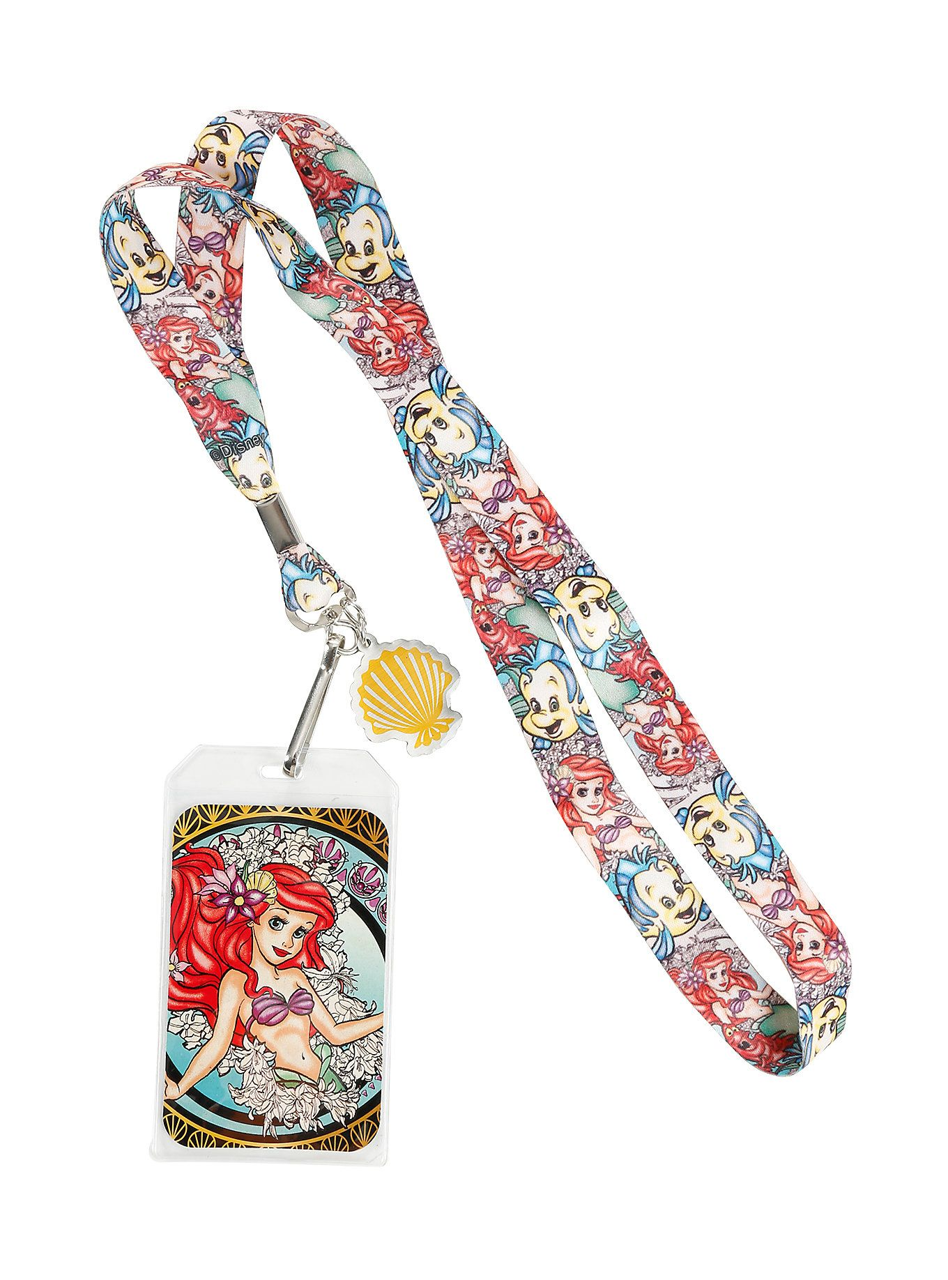 Loungefly Disney The Little Mermaid Ariel Lanyard | Ariel ...