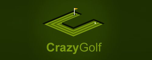Crazy Golf Logo Golf Logo Logo Design Branding Design Logo